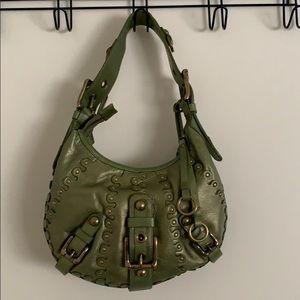 Isabella Fiore Metallic Leather Handbag